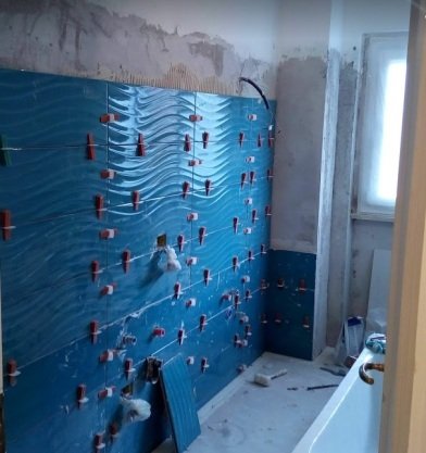 Il bagno durante i lavori