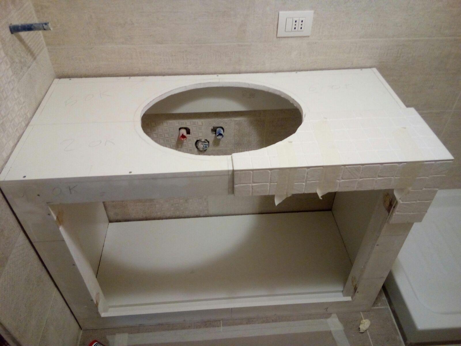Mobile bagno in muratura cheap mobili arredamento bagno - Bagno in muratura costi ...