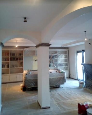 Tinteggiatura con copertura pavimenti