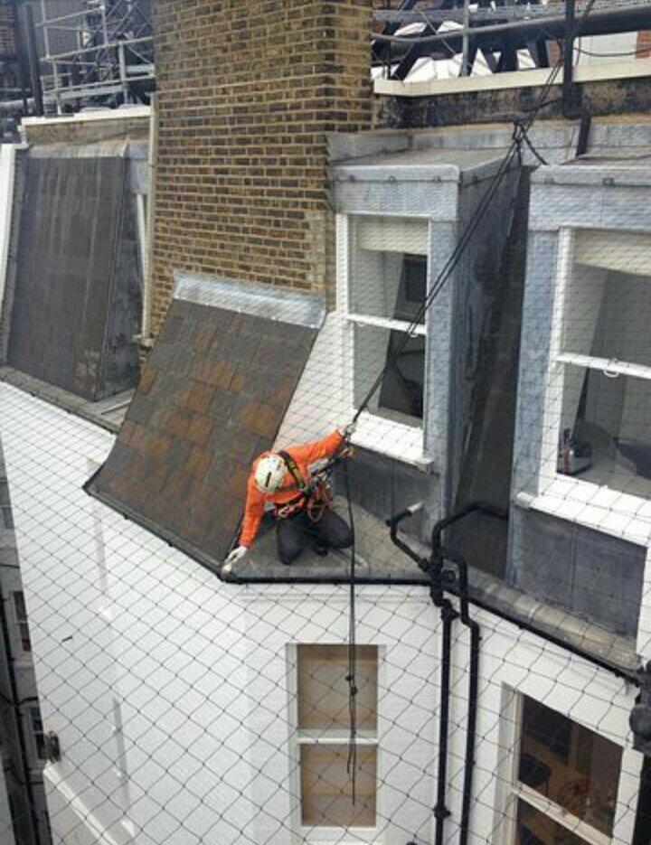 Manutenzione frontalini balconi con edilizia su fune